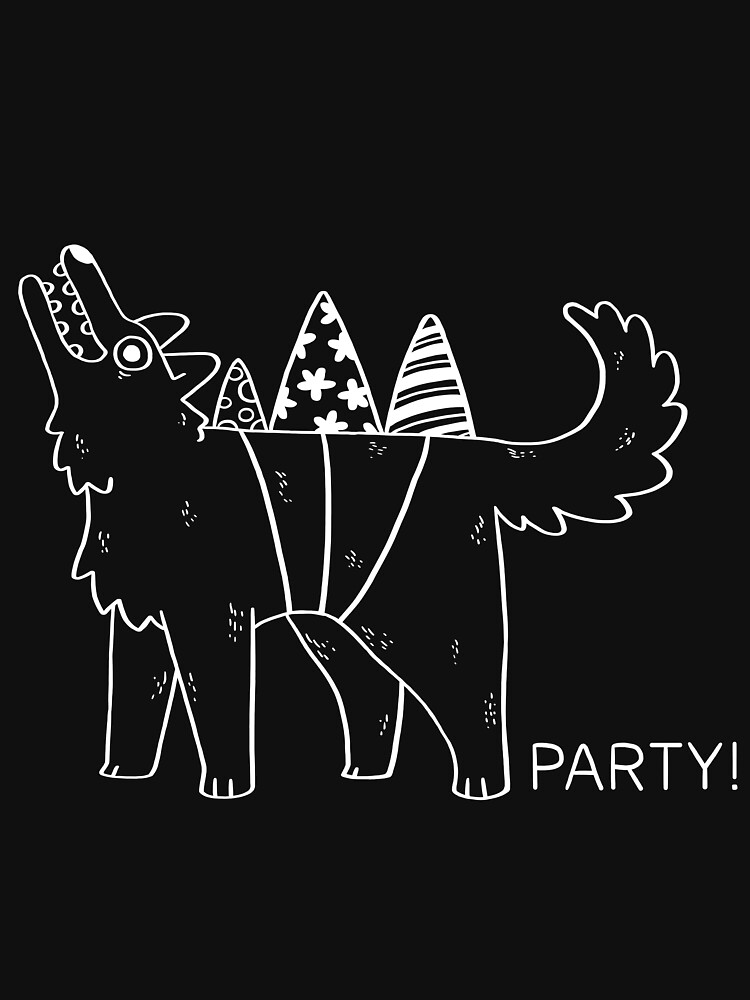 Party Dog – B&W by saracapello