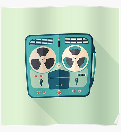 Reel to Reel Tape Recorder Poster