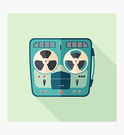 Reel to Reel Tape Recorder Photographic Print