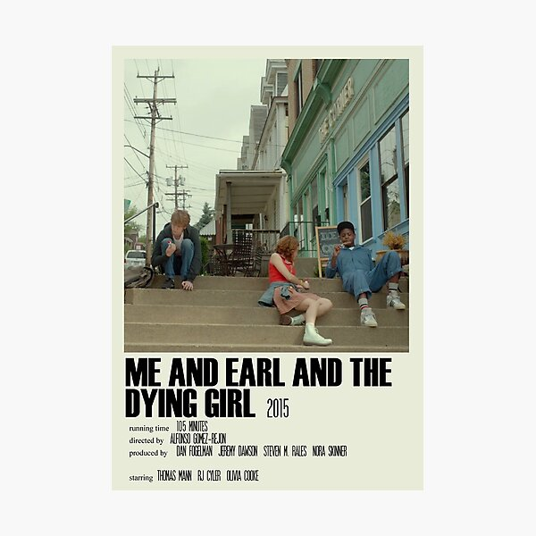 Me and Earl and the Dying Girl Alternative Poster Art Movie Large (2) Photographic Print
