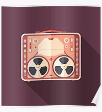Portable Reel Tape Recorder Poster