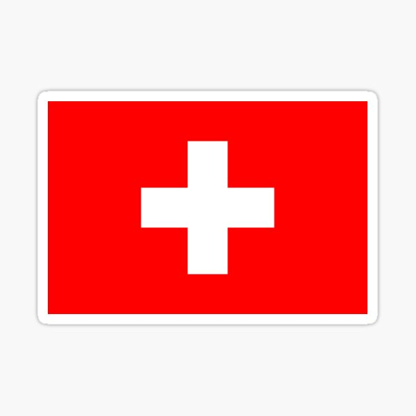 Swiss Civil Flag Gifts, Masks, Stickers & Products Sticker