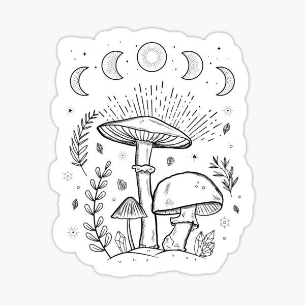 Goblincore Dark Academia Mushroom Cottagecore Aesthethic Mycology Shrooms Sticker