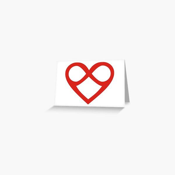 Twin Flame heart infinity Love Greeting Card