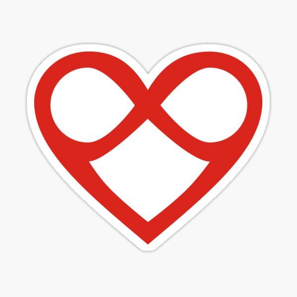 Twin Flame heart infinity Love Sticker