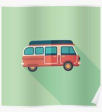 Retro Minivan Poster