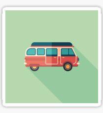 Retro Minivan Sticker
