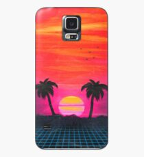Retro sunset 2 Case/Skin for Samsung Galaxy