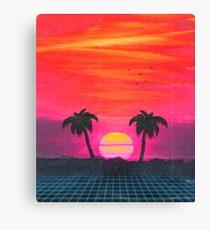 Retro Sonnenuntergang 2 Leinwanddruck