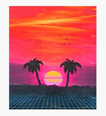 Retro sunset 2 Photographic Print