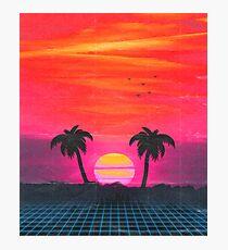 Retro sunset 2 Photographic Print