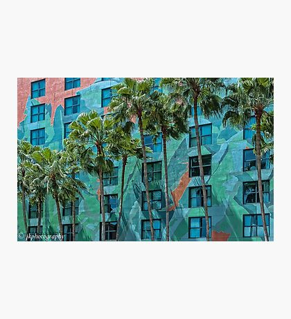 Palms and Mosaics Photographic Print