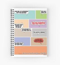 Real Life Superheroes Spiral Notebook