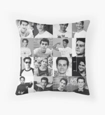 Tyler Posey & Dylan O'brien collage Throw Pillow