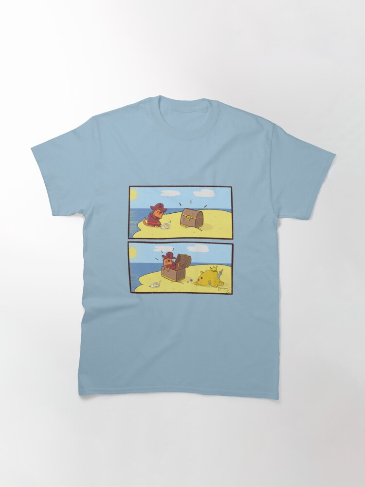 Alternate view of Scribbly G Pirate Kitty Comic Classic T-Shirt