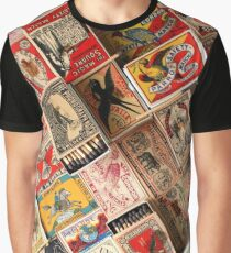 Retro Vintage Matchboxes Graphic T-Shirt