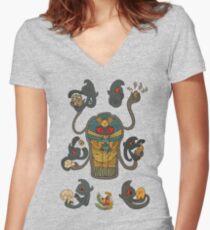 Cofagrigus & Yamask Fitted V-Neck T-Shirt