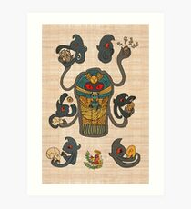Cofagrigus & Yamask Art Print
