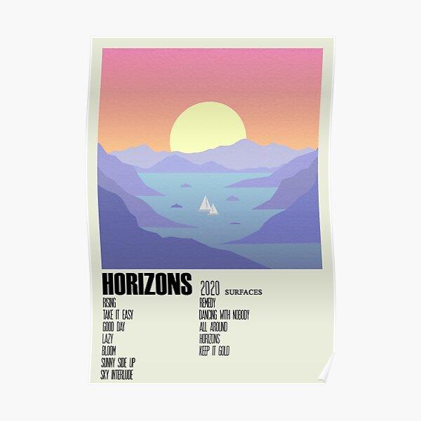 Horizons Surfaces Album Cover Alternative Poster Minimalist Art Poster