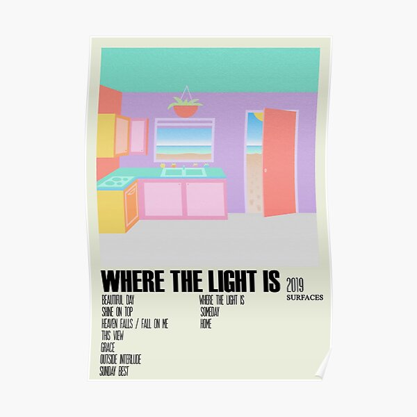 Where the Light Is Surfaces Album Cover Alternative Poster Minimalist Art Poster