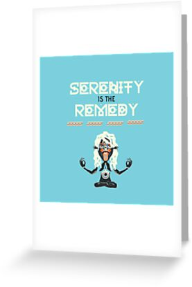 Serenity is the Remedy (vertical) by jaereilly