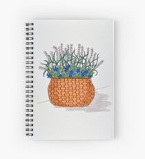 Flowers/13 - Woven Large Basket Spiral Notebook