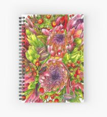 Berries & Proteas Spiral Notebook