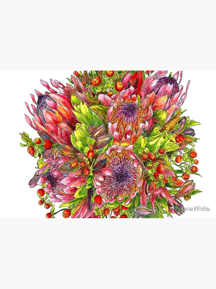 Berries & Proteas by DianneWhite