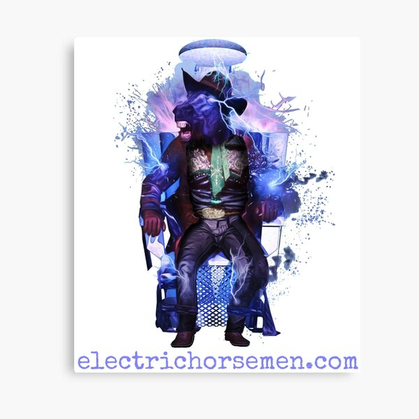 Electric Horsemen - Electrocuted Horseman Canvas Print