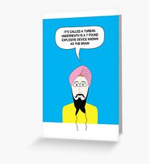 What under the Turban? Greeting Card