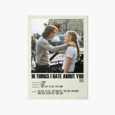 10 Things I Hate About You Alternative Poster Art Movie Large (8) Art Board Print