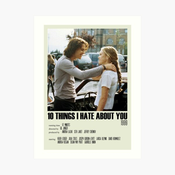 10 Things I Hate About You Alternative Poster Art Movie Large (8) Art Print