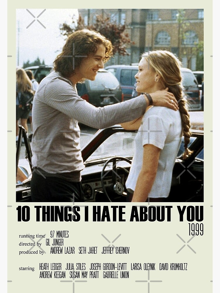 10 Things I Hate About You Alternative Poster Art Movie Large (8) by DesignsByElle