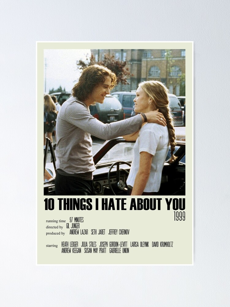 Alternate view of 10 Things I Hate About You Alternative Poster Art Movie Large (8) Poster