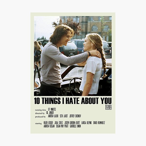 10 Things I Hate About You Alternative Poster Art Movie Large (8) Photographic Print