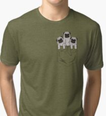 Pocket Pug Tri-blend T-Shirt