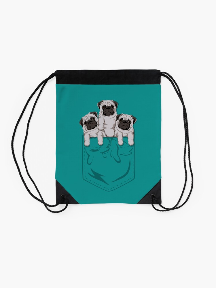Vista alternativa de Mochila de cuerdas Pocket Pug