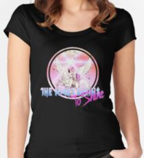 Cyborg -Night begins to Shine Women's Fitted Scoop T-Shirt