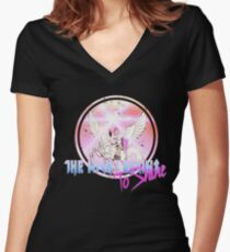 Cyborg -Night begins to Shine Women's Fitted V-Neck T-Shirt