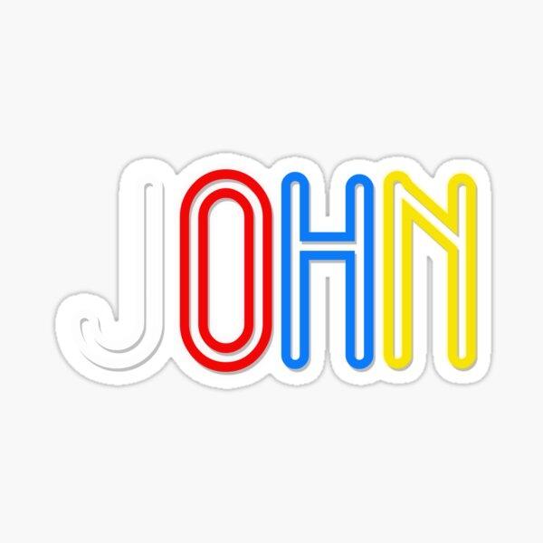 You Personalised Merchandise - John Sticker