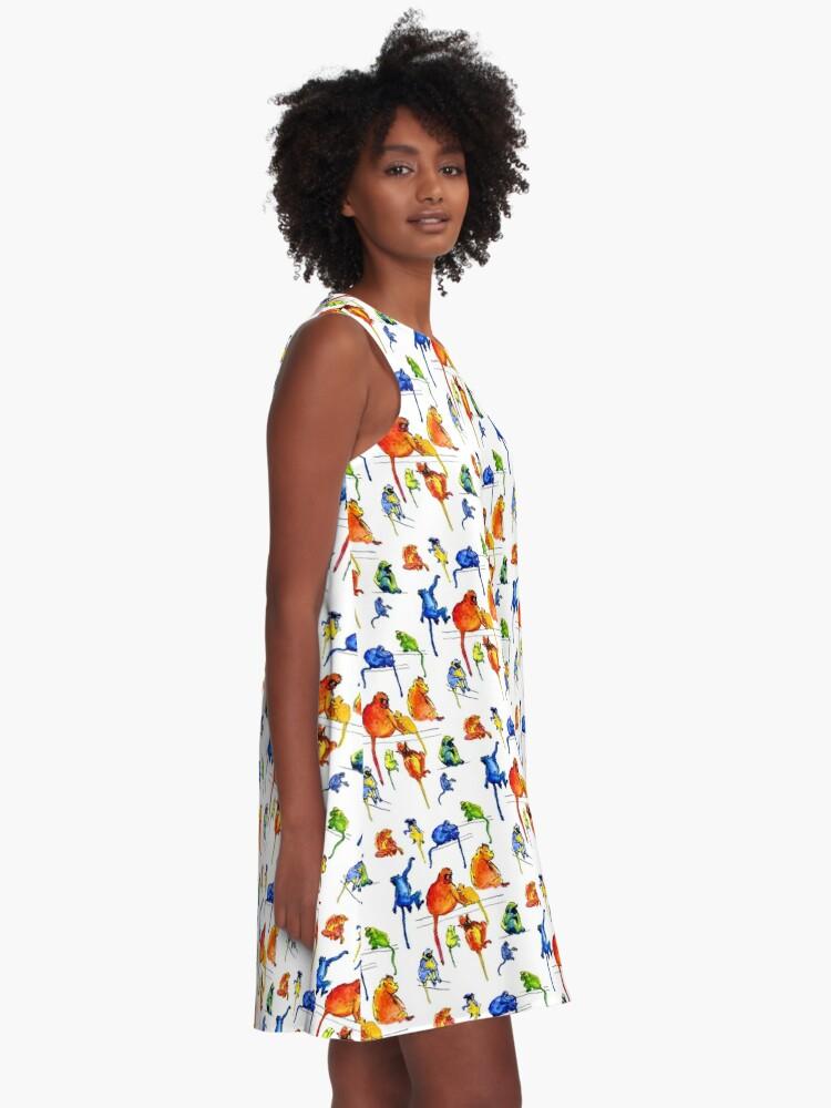 Alternate view of Monkey Troupe A-Line Dress