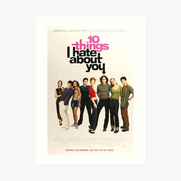 10 things I hate about you Poster Art Print