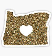 Oregon + Glitter Sticker