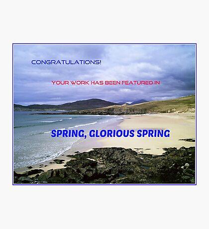 Banner für 'Frühling, glorreichen Frühling' Fotodruck