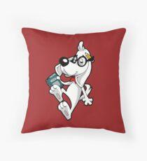 GENIUS DOG GENIUS Throw Pillow