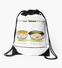 Tea Wars Drawstring Bag
