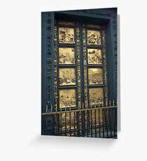 The Gates of Paradise ~ Florence Baptistery Greeting Card