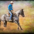 The Cowboy on a Grey Horse by Clare Colins
