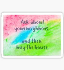 Inspirational abstract water color background Sticker