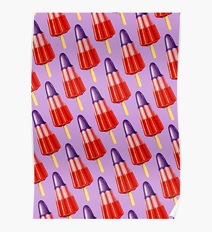 Zoom Ice Lolly Pattern 2 Poster